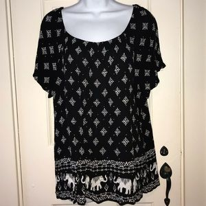INC black with silver embellishments top